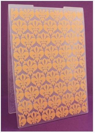 Downton Abbey Embossing Folder - Fleur De Lis - 5x7inches