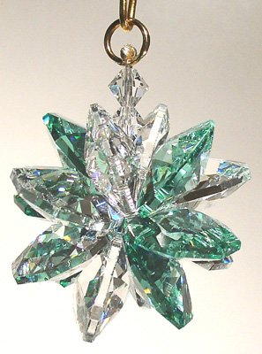 Small Austrian Crystal - Clear and Seafoam Small Suncluster with Austrian Crystal