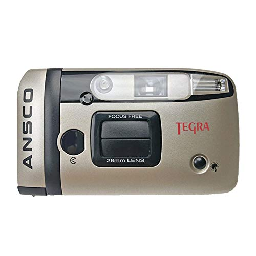 Ansco Tegra 35mm Film Camera Compact Point & Shoot Flash Panorama Focus Free Vintage