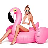 Adults Flamingo Inflatable Swimming Float; Swimming Ring Lounger for Women and Men Pool Water Play Toys Party Favors Inflatable Raft with Electric Pump Hot Instagram Style