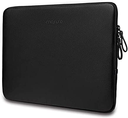 PU Leather Vertical Style Padded Bag Waterproof Case MOSISO Laptop Sleeve Compatible with 2020 2019 MacBook Pro 16 inch Touch Bar A2141//15-15.6 inch MacBook Pro Retina 2012-2015//Surface Laptop Rose Gold