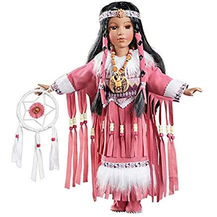 Elu Native American Indian Doll with Stand and Gift Bag