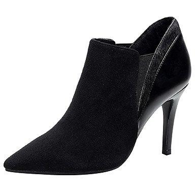 RTRY Zapatos De Mujer Pelos De Caballo Otoño Invierno Moda Bota Botas Botas De Suelas De Luz Señala Toe Botines/Botines De Gore Para Oficina &Amp; Carrera Negro Us8.5 / Ue39 / Uk6.5 / Cn40 US5.5 / EU36 / UK3.5 / CN35