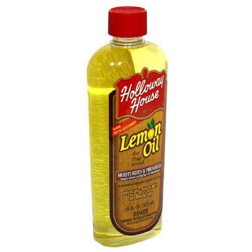 Holloway House Lemon Oil with Sun Guard, 16-Ounce Bottles (Pack of 6) by Holloway House