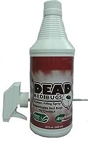 Dead Bed Bugs Contact Killing Bed Bug Spray, Safe - Non-Toxic 32 oz
