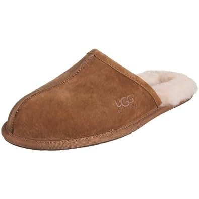 UGG Australia Men's Scuff Suede Slippers, 7, Chestnut