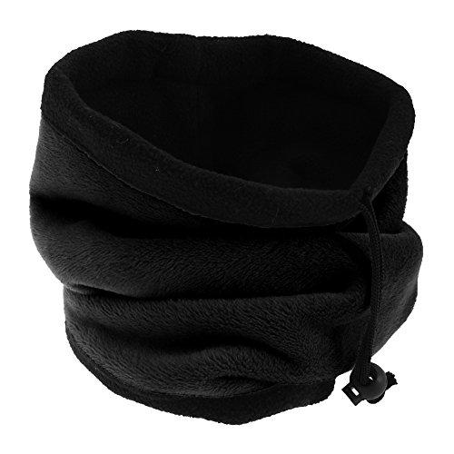 FLOSO® Womens/Ladies Multipurpose Fleece Neckwarmer Snood / Hat (One Size) (Black)
