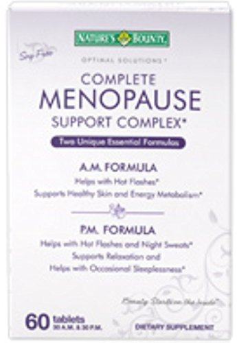 - Nature's Bounty Optimal Solutions Complete Menopause Support Complex Tablets 60 Tablets (Pack of 6)