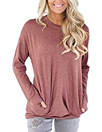 Women Casual Loose Long Sleeve Round Neck Sweatshirt...