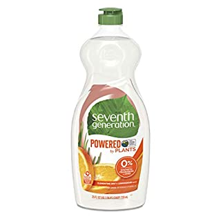 Seventh Generation Dish Liquid Soap, Clementine Zest & Lemongrass Scent, 25 Fl. Oz (Pack of 1) (Packaging May Vary)