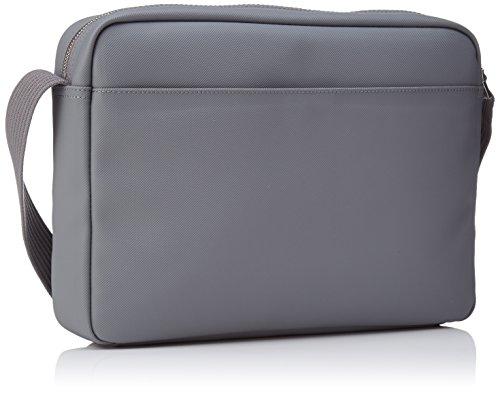 Lacoste Herren Mens Classic Fantaisie Henkeltaschen, Gris (Steel Gray), 8x25x35 cm