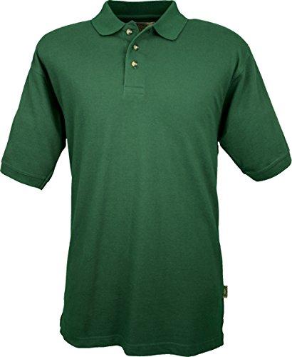 Colorado Timberline Men's Worthington Polo Cotton Shirt Ash Forest Green 2XL