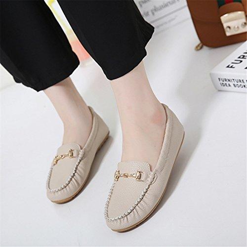 Klassieke Vrijetijdsschoenen Voor Dames - Zachte Slip-schoenen - Comfortabel Schoeisel 218-10 Abrikoos