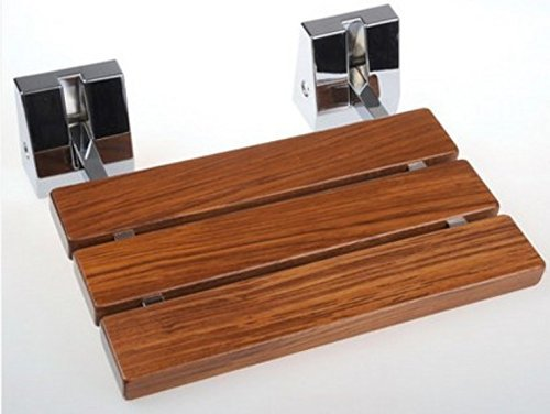 Modern Teak Wood Folding Shower Seat Bench Wall Mounted Wood ...