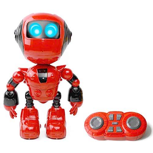RcTecnic - Robot per Bambini con Testa telecomandata con batterie radiocontrollate, modalità dimostrazione, Ballo e movimenti, Molto Resistente agli Urti, luci LED con Suono.