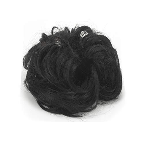 Messy Hair Bun Extensions Chignons Hair Hair Natural Black Size One Size