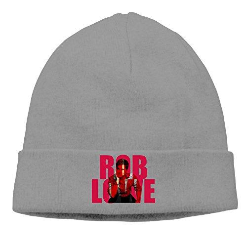 EWIED Men's&Women's Rob Lowe Patch Beanie LeisureDeepHeather Hat For Autumn And Winter (Zumba Happy Halloween)