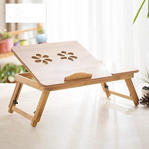 Mesa de computadora portable de bambú】 Bigtree Mesa portable ...