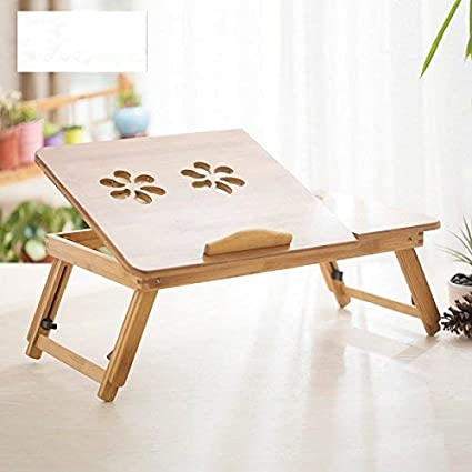 Folding Bamboo Laptop Desk Portable Computer Table Stand Tray Side Bed Sofa UK Home Office Furniture Home, Furniture & DIY