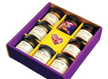 Gift Box Kind Heart Seasoning 8 jar By Penzeys Spices by Penzeys