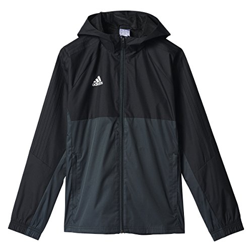 (adidas Tiro 17 Jacket - Boys' Black/Dark Grey/White, S )