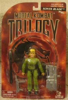 1996 Midway Games-Sonya Blade- Toy Island Mortal Kombat Trilogy Fighters Figure with Insert Missle]()