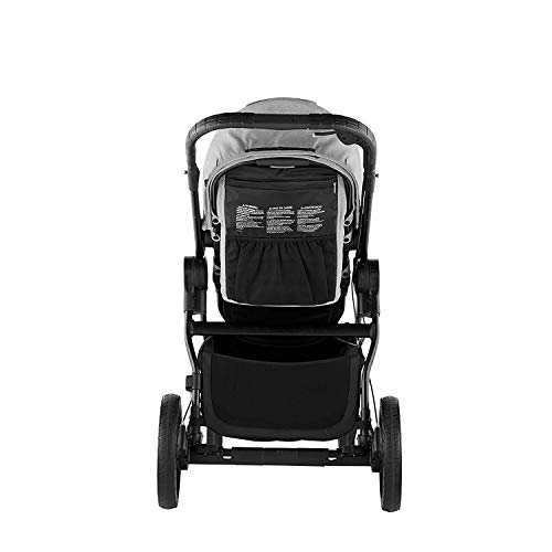 416KPcBsMIL - Baby Jogger City Select LUX Stroller | Baby Stroller With 20 Ways To Ride, Goes From Single To Double Stroller | Quick Fold Stroller, Slate