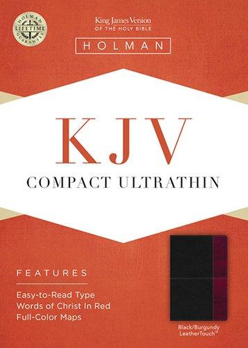 Read Online KJV Compact Ultrathin Bible, Black/Burgundy LeatherTouch pdf epub