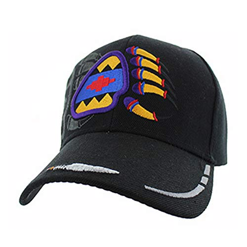- Native American Pride Bear Claw Paw Baseball Adjustable Hat Cap Black
