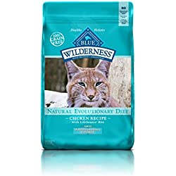 BLUE Wilderness Adult Indoor Control Hairball Grain Free Chicken Dry Cat Food 11-lb