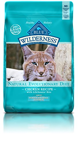 Blue Buffalo Cat Indoor Adult Hairball Chicken Formula-Grain