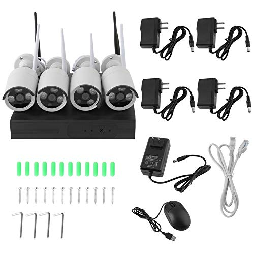 960P 4CH Wireless NVR WiFi Home Video Security Cameras System