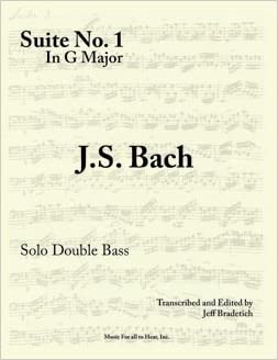 Amazoncom Double Bass Edition Cello Suite No1 In G Major