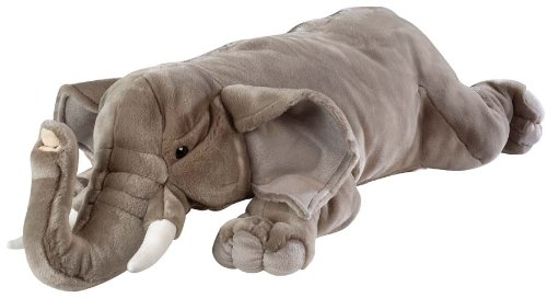 Amazon Com Wild Republic Jumbo Elephant Plush Giant Stuffed Animal
