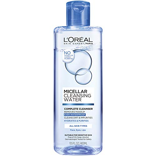 (L'Oréal Paris Micellar Cleansing Water Complete Cleanser, 13.5 fl. oz.)