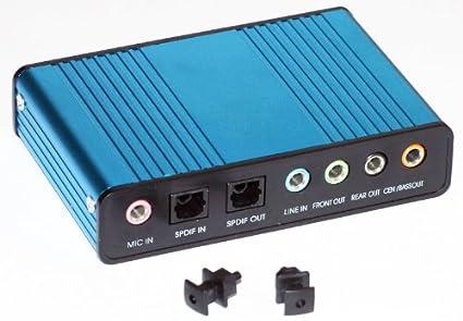 PC Trading® Tarjeta de sonido USB externa de 6 canales 5.1 – Compatible con Win 2000, Win Xp, Win Vista, Win 7 – CD de controlador incluido