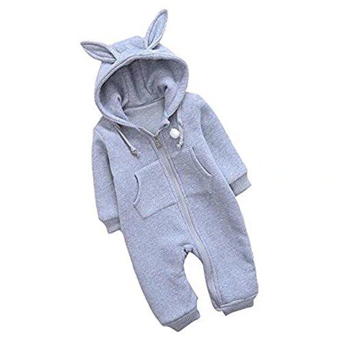 Price comparison product image Finebaby Infant Cartoon Animal Zipper Jumpsuit Baby Boys Girls Crawling Onesie Pajamas Fleece Hooded Rompers
