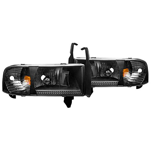 Winjet Headlights Compatible With 1994-2002 Dodge Ram 1500 2500 3500