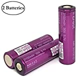 M&A BD Electronics IMR20700 3100mAh 30A Rechargeable High Drain Flat Top Li-ion 3.6V Battery (2-Pack) Replacement for 20700 Batteries