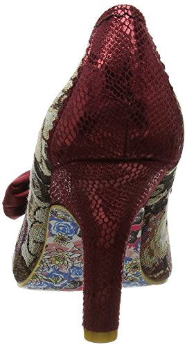 Multi Irregular Choice Women's Heels French Toe Red Fries Red Closed FOFz4wq