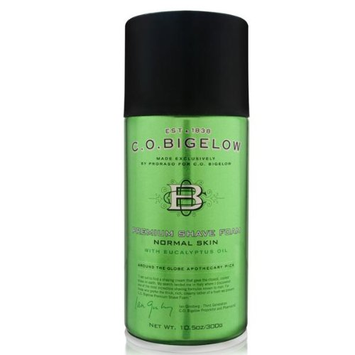 C.O. Bigelow Premium Shave Foam with Eucalyptus Oil 300g/10.5oz - Bigelow Shaving Cream