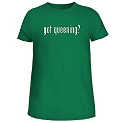 Bh Cool Designs Got Queening Cute Women S Junior Graphic Tee Green X Large