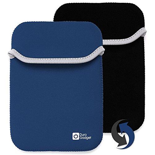 2-in-1 umkehrbare Tasche | Etui | Case | Schutzhülle in SCHWARZ-BLAU aus wasserabweisendem Neopren-Material für Texas Instruments Voyage 200 und den Casio FX-9860GII-LD-EH grafischen Taschenrechner.
