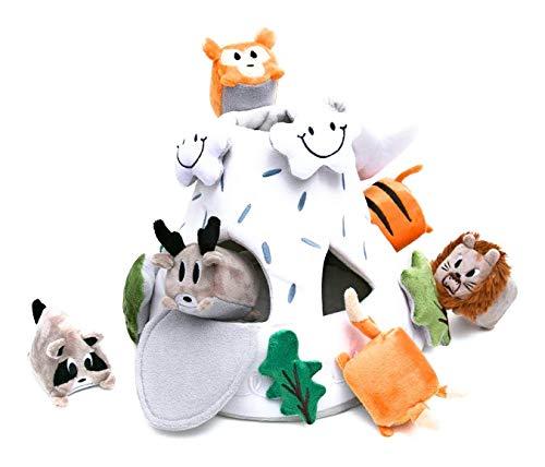 OK!DZO 12'' Mountain & Animal Shape Sorter Plush Developmental Toy Set (16 pcs)- Cognitive & Motor & Social Skills- Fun Bright Colors & Textures for Babies 0-36 Months by OK!DZO (Image #9)