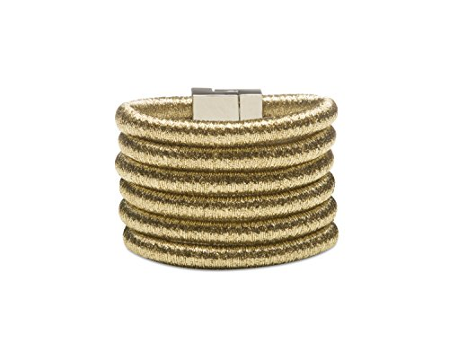 """8.3"""" Superior newest design GOLD MULTILAYER scarf 6 layered chain string magnetic clasp statement BRACELET by SEVEN50 coming with GIFT - Balmain Women"""