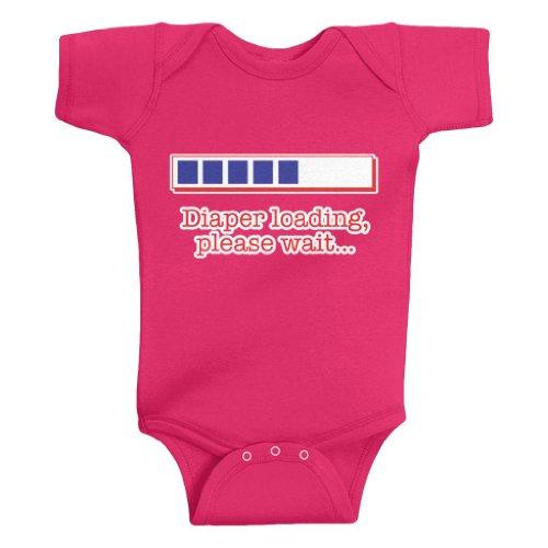 Threadrock Unisex Baby Diaper Loading Bodysuit 24M Hot Pink