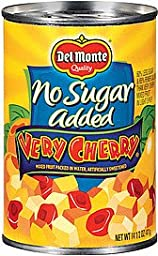 Del Monte, No Sugar Added, Very Cherry Mixed Fruit in Water, 14.5oz Can (Pack of 6)