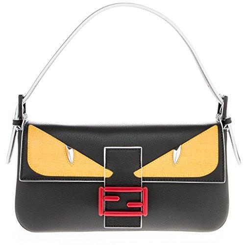 Fendi Women's Moster Bagette Black + Yellow