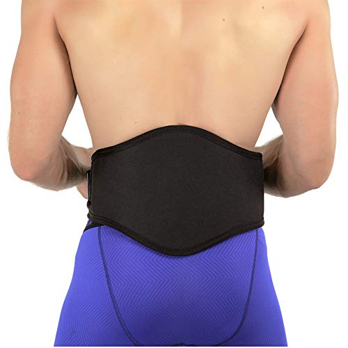 Back-A-Line Sport Support Belt with Orthopedic Lumbar Pad - Corrects Spinal Mechanics and Relieves Back Pain (Medium)