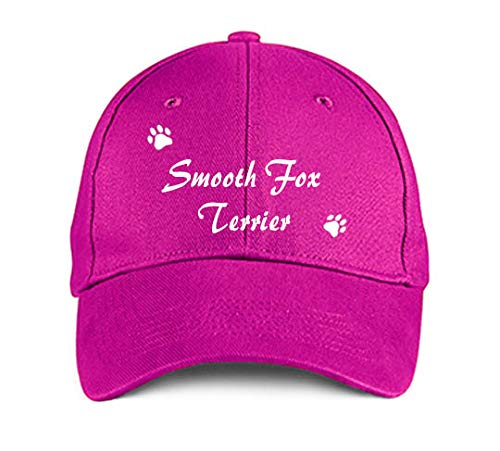 - Smooth Fox Terrier Dog Cat Puppy Hat Baseball Cap Headwear Pink